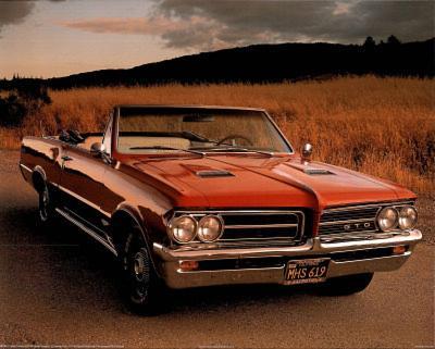 Pontiac (64 GTO Convertible) Car Poster
