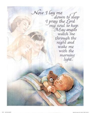 Now I Lay Me Down To Sleep (Prayer) Art Print Poster