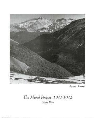 Ansel Adams Mural Project Long's Peak Art Print POSTER