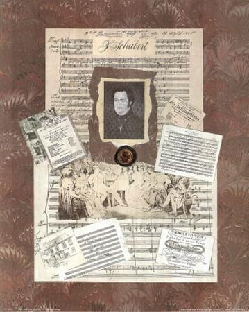 Music Charles Franz Schubert Composer Art Print POSTER