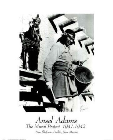 Ansel Adams Mural Project Pueblo Indians NM Art Print Poster