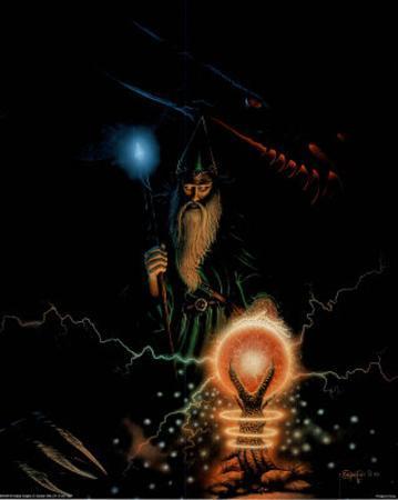 Wizard Sorcerer Dragon Crystal # 5 Art Print POSTER