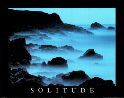 Solitude (Motivational) Photo Print Poster