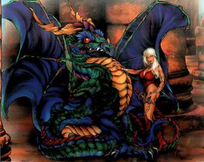 Dan McManis (Dragon & Girl) Art Print Poster