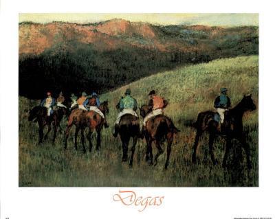 Racehorses-Chevaux Course Edgar Degas ART PRINT POSTER