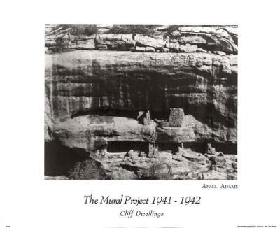 Ansel Adams (Cliff Dwellings) Art Print Poster