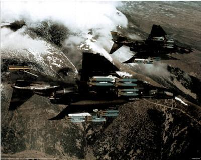 F-4E with Missiles (In Air) Art Poster Print