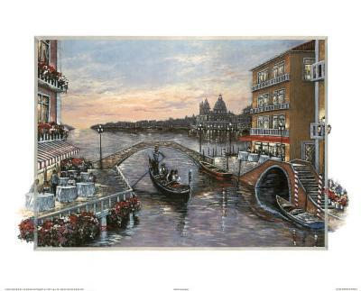 Jose (Evening in Venice 2) Art Print Poster