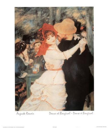 Auguste Renoir (Dance At Bougival) Art Print Poster