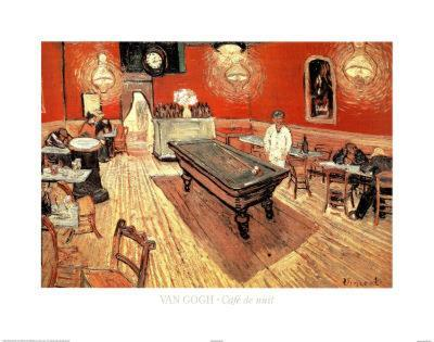 Vincent Van Gogh Cafe de Nuit Art Print Poster