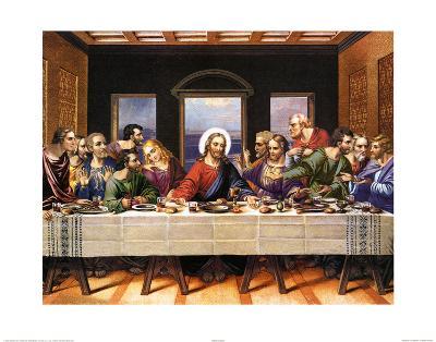 Leonardo Da Vinci (Last Supper) Art Poster Print