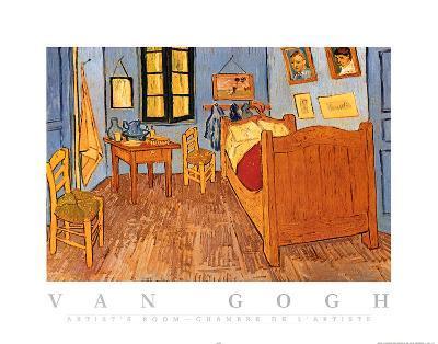 Vincent Van Gogh Artist's Room Art Print Poster