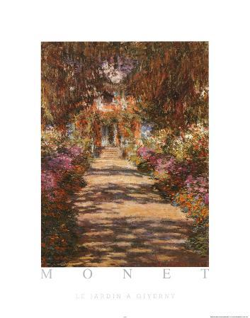 Claude Monet Le Jardin A Giverny Art Print Poster