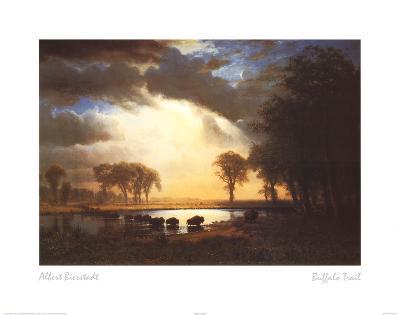 Albert Bierstadt (Buffalo Trail) Art Print Poster
