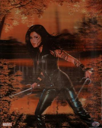 Elektra Marvel Comics 3-D Lenticular Art Print Poster