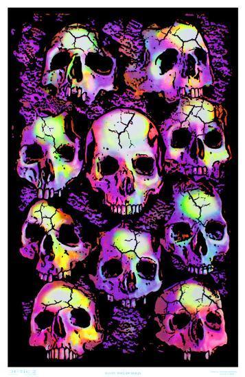 Wall Of Skulls Blacklight Art Poster Print Posters At AllPosters