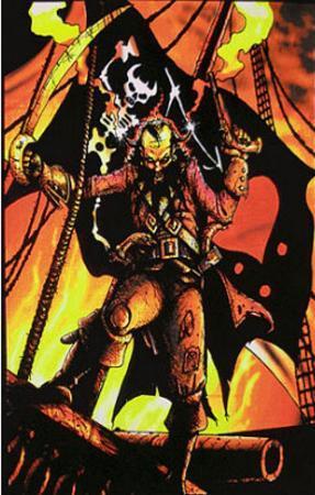 Blackbeard the Pirate Flocked Blacklight Poster Art Print