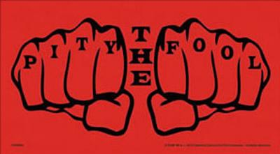 A-Team Pity the Fool Vinyl Sticker