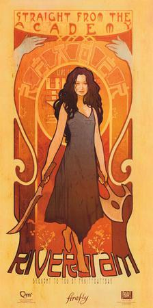 Serenity Movie Firefly Les Femmes River Tam Poster Print
