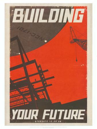 Star Trek Movie Building Your Future Poster Print