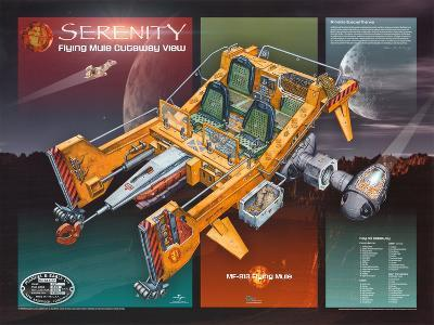 Firefly Serenity Flying Mule Cutaway View TV Poster Print