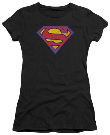 Juniors: Superman - SM Neon Distress Logo