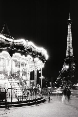 Paris Tower And Carousel