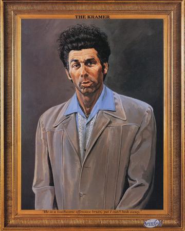 Seinfeld Kramer Portrait TV Poster Print