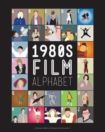 1980s Film Alphabet - A to Z