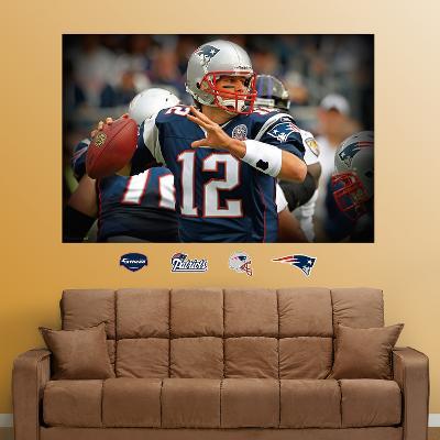 Tom Brady Closeup Mural