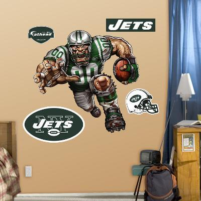 New York Jets Die Cut RB Liquid Blue