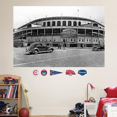 Chicago Cubs Wrigley Field Historical Exterior Stadium Mural