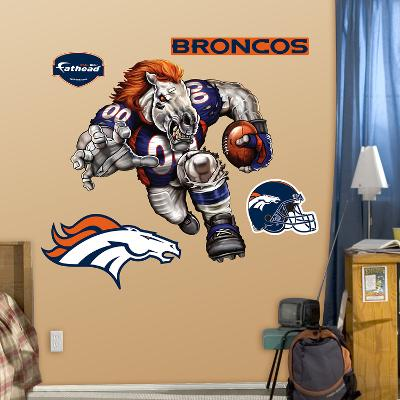 Denver Broncos Die Cut RB Liquid Blue