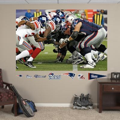 Patriots-Giants Line Mural