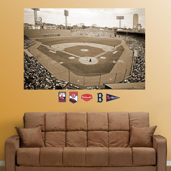 Boston Red Sox Fenway Park Historical Stadium Mural Optionwall Decal