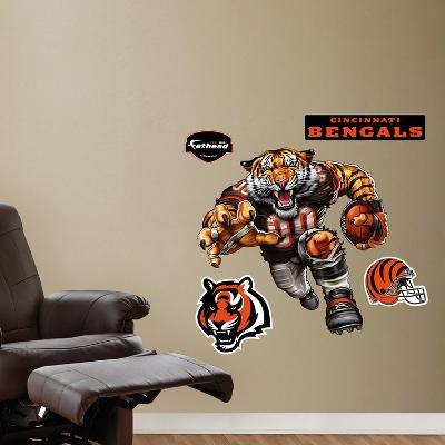 Cincinnati Bengals Die Cut RB Liquid Blue