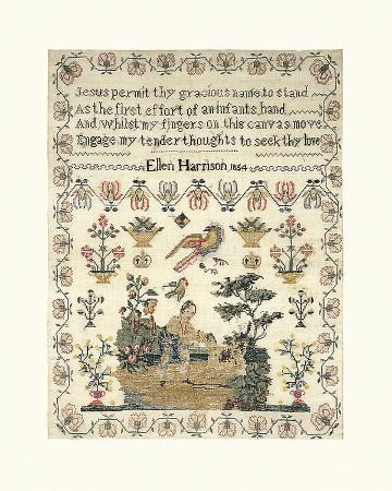 Sampler with Child and Dog
