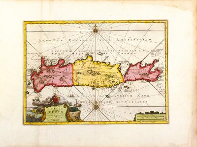 L'Ile de Candie, Anciennement Crete, c1733