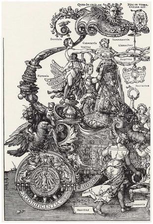 """Albrecht Durer (""""Triumph of the Emperor Maximilian I,"""" Block 1)"""