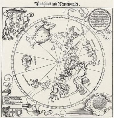 Albrecht Durer (Star map, the southern sky, 4 Version) Art Poster Print