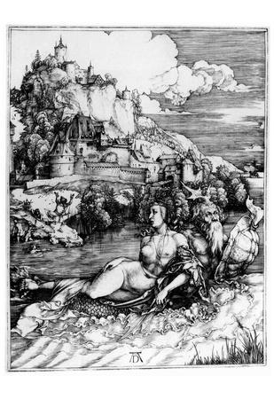 Albrecht Durer (The sea wonders) Art Poster Print