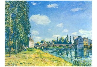 Alfred Sisley (Bridge at Moret in Summer) Art Poster Print