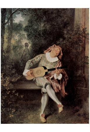 Antoine Watteau (Mezzetin) Art Poster Print