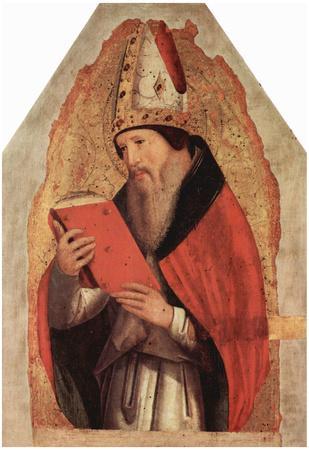 Antonello da Messina (St. Augustine) Art Poster Print