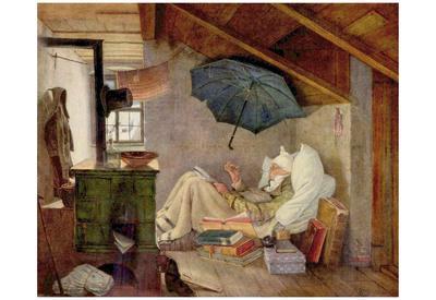 Carl Spitzweg (Poor Poet) Art Poster Print