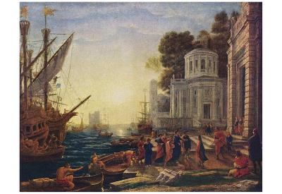 Claude Lorrain (Landing of Cleopatra in Tarsos) Art Poster Print