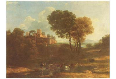 Claude Lorrain (Villa in the Roman Campagna) Art Poster Print