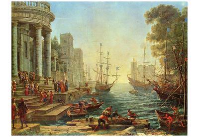 Claude Lorrain (Embarkation of St. Ursula) Art Poster Print