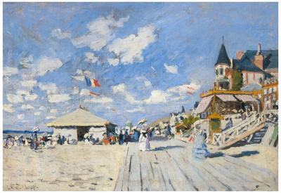 Claude Monet (Sur les Planches de Trouville) Art Poster Print