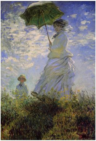 Claude Monet (Woman with a Parasol, 1875) Art Poster Print
